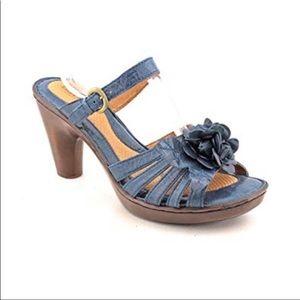 Blue Born Flower Sandal Heels sz 9 ✨